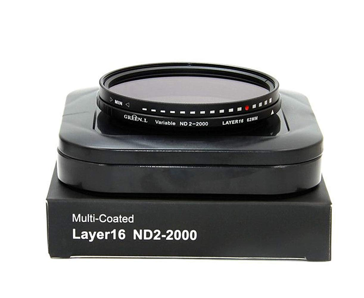 GREEN.L 67mm Variable ND Filter ND2-2000 Neutral Density Filter Nano Coating MRC18-Layer Schott Optics Glass by Green-L