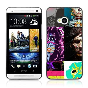 Designer Depo Hard Protection Case for HTC One M7 / Abstract Picture