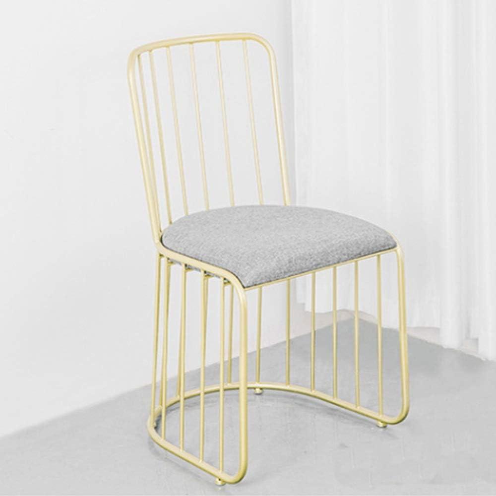 Dining Chair Dressing Chair Dining Chair Metal Cotton Linen Sturdy