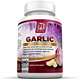 #5: BRI Nutrition Odorless Garlic - 240 Softgels - 1000mg Pure And Potent Garlic Allium Sativum Supplement (Maximum Strength) - 120 Day Supply