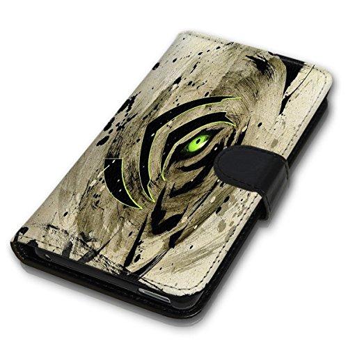 Wallet Book Style Flip Handy Tasche Case Schutz Hülle Schale Motiv Etui für Apple iPhone 4 / 4S - Design Flip MVD332