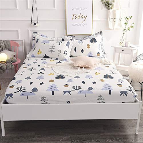 MSM Cotton Mattress Topper, Soft Comfort Flower Mattress Protector Bedroom Living Room Futon Bed roll-M ()