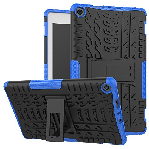 Maomi-Amazon-Fire-8-2017-release-CaseKickstand-FeatureShock-AbsorptionHigh-Impact-Resistant-Heavy-Duty-Armor-Defender-Case-For-Amazon-Fire-HD8-2017-Tablet-Blue