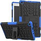 "Maomi Amazon Fire 8"" (2017 release) Case,[Kickstand Feature],Shock-Absorption/High Impact Resistant Heavy Duty Armor Defender Case For kindle fire HD8 2017 Tablet (Blue)"