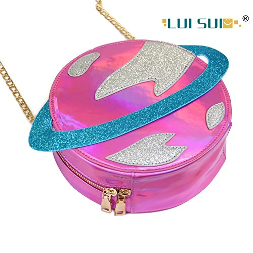 LUI SUI-Stunning Parent-child Circular planet party bag women laser planet orbit bag shoulder bag C54