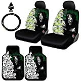 8 piece car seat covers - New Design 8 Pieces DC Comic Joker Car Seat Covers Floor Mats and Steering Wheel Cover Set with Air Freshener