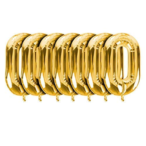(Gold Linking Chains Set of 7 Giant Party Balloon Decorations for 80s 90s Hip Hop Retro Disco Theme Link a Large Arch Display for Birthdays Weddings Graduations Bridal Showers Anniversaries (Gold))