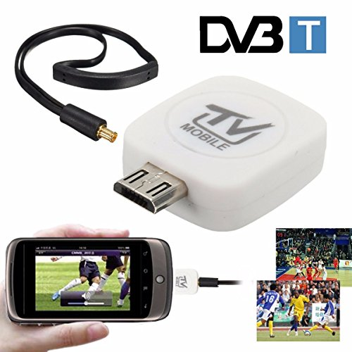 BephaMart Mini Digital DVB-T Micro USB Mobile HD TV Tuner Stick Receiver for Android Phone (Mobile Digital Tv Tuner)