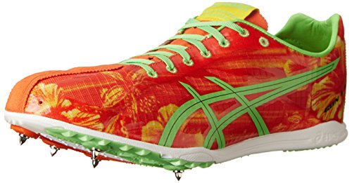 (ASICS Men's Gunlap Track And Field Shoe,Red Floral/Flash Green,7.5 M US)