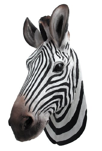`Botswana` Zebra Head Wall Mount Statue Bust Head Bust Sculpture