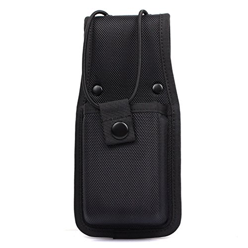 (TTGTACTICAL Molded Nylon Radio Case, Duty Gear Radio Pouch for Duty Belt, Black)