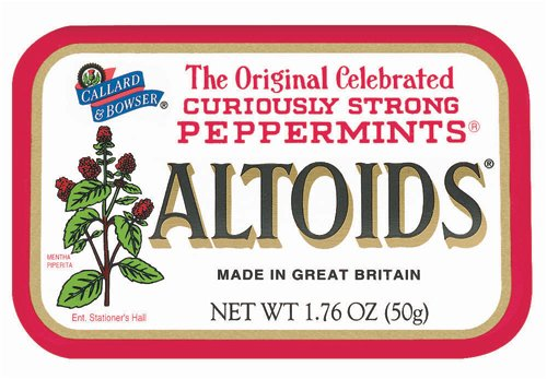 Altoids Mints - Peppermint, 1.76 oz tin, 12 count