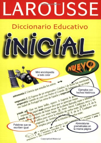 Diccionario Educativo Inicial por Larousse Mexico,Larousse Bilingual Dictionaries
