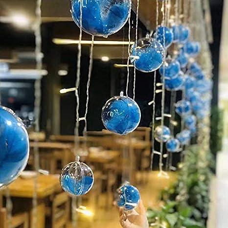Adatta per Decorazioni Natalizie Decorazioni per Alberi di Natale Decorazioni per Feste di Nozze 3,1 Pollici Palla riempibile Fai-da-Te FOONEE 10 Pezzi Sfera Decorativa Trasparente da 8cm
