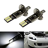 iJDMTOY® 24-SMD Side-Shine H1 LED Bulbs For Fog Lights or High Beam Daytime Running Lights