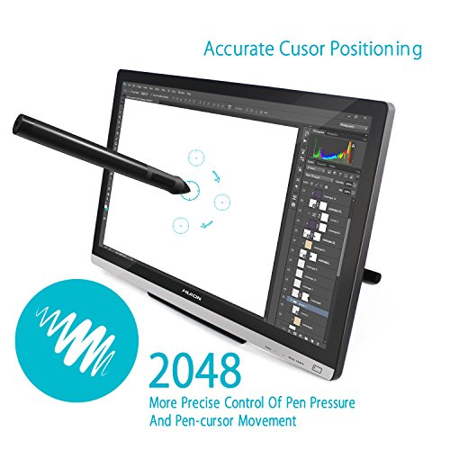 Huion 21.5 Inch Pen Display IPS Interactive Pen Monitor Graphics Monitor for Windows and Mac—GT-220 V2 Silver by Huion (Image #3)