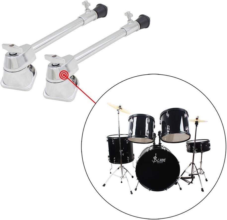 AKDSteel 2 Pcs Professional Drum Leg Bass Drum Spurs Legs Percussion Instrument Accessories for CE Accessories