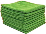 Antibacterial Microfiber Cloths EPA Registered - 16''x16'' Contains Killing Power SilverClear(TM) Treatment