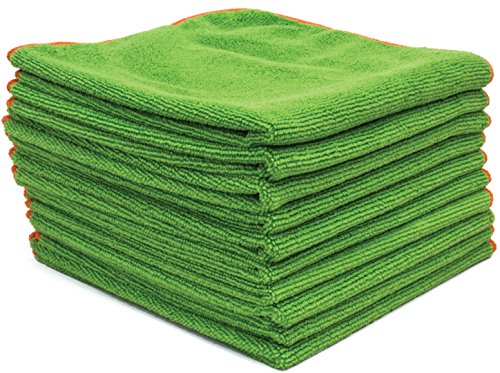 "Antibacterial Microfiber Cloths EPA Registered - 16""x16"" Contains Killing Power SilverClear(TM) Treatment"