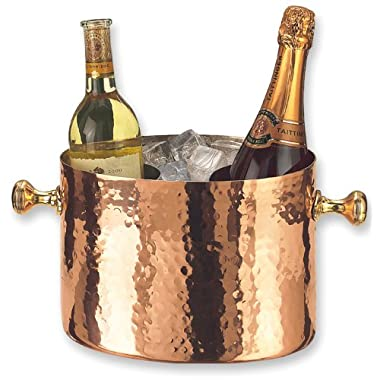 Old Dutch Decor Copper Double Chiller with Aluminum Insert, 7 Qt
