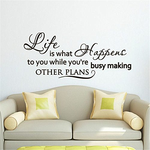 Officy Quotes Wall Stickers Life is What Happens to You While You're Busy Inspirational Quote About Life Home -