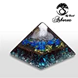 Big Orgone Pyramid, Reiki charged, Ocean, yin yang., ArboreaCrystals Design Orgonite