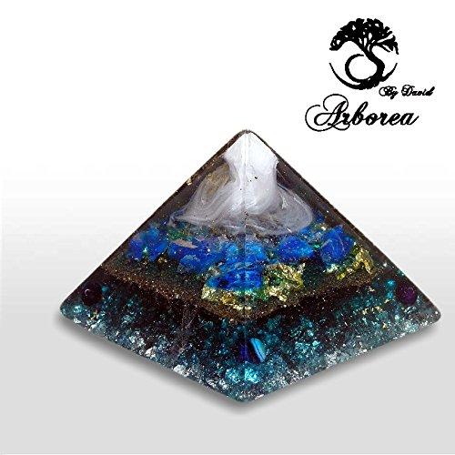 Big Orgone Pyramid, Reiki charged, Ocean, yin yang., ArboreaCrystals Design Orgonite by ArboreaCrystals Orgone