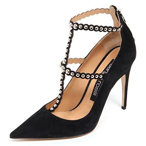 Borchie E4746 Decollete Suede Rossi Sergio Woman Nero Donna Shoe Scarpe qaB5Xxw