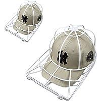 Baseball Hat Washer,2pcs Cap Washer Frame/Washing Cage,White Cap Hat Visors Shaper,Ball Cap Sport Hat Cleaner/Rack,Cap Holder,Hat Hanger,Cap Shape Protector,Cap Organizer,Safe for Dishwasher (2 Pack)