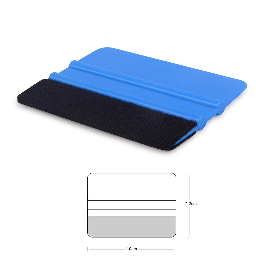 WINJUN Plastic Felt Edge Squeegee 4 Inch Felt Edge Squeegee for Car Tint Film Vinyl Wraps Application Tool and Wallpaper Tool 2 Pack Squeegees and 5 Spare Fabric Felt 5559015492