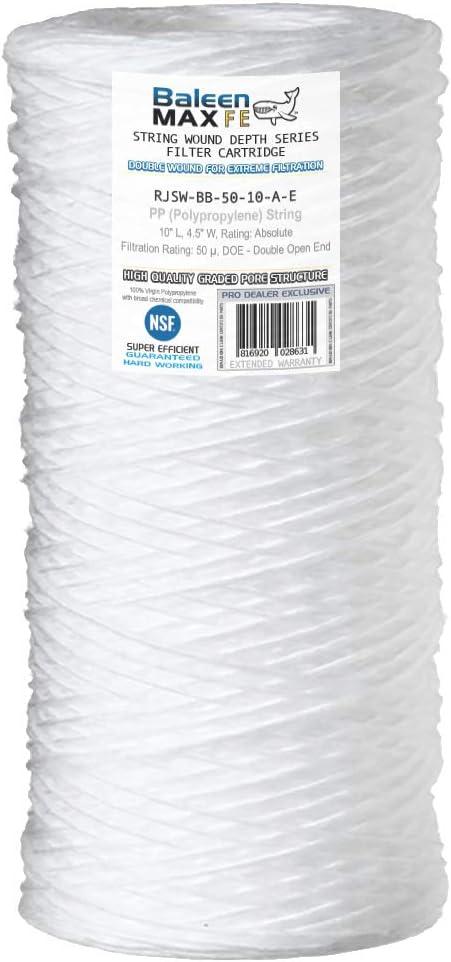50 Micron HYDRONIX-SWC-45-1050 Hydronix SWC-45-1050 String Wound Filter 4.5 OD X 10 Length
