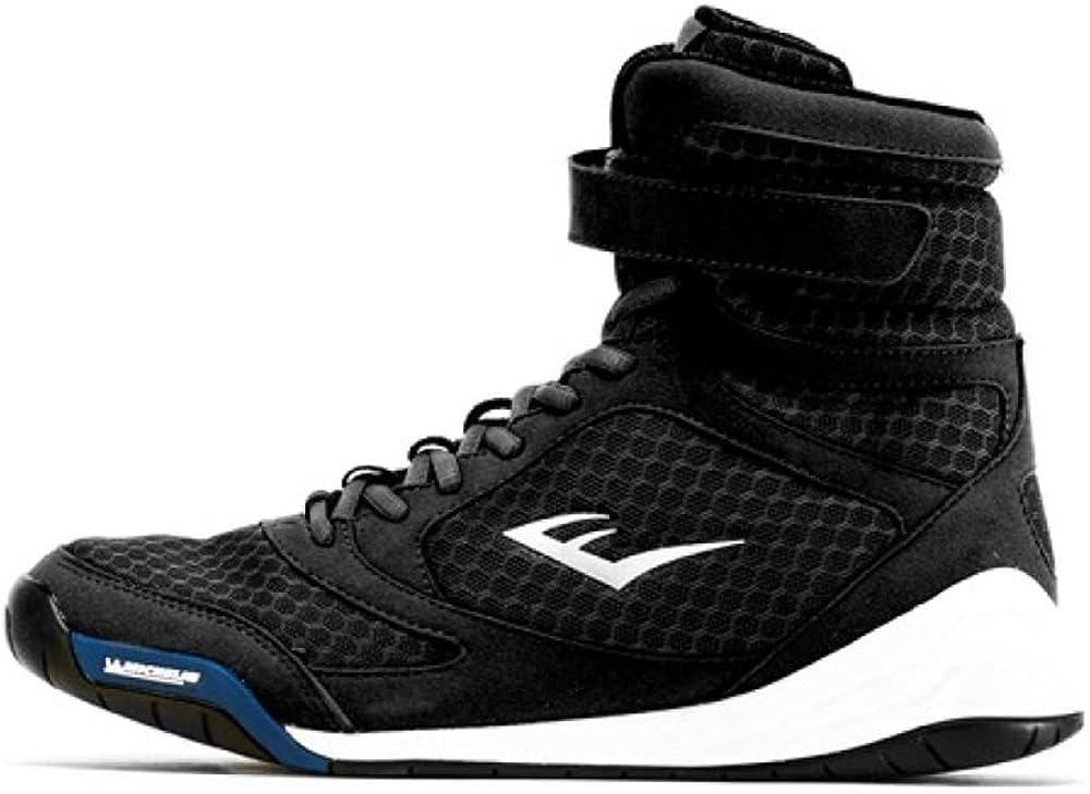 Everlast Pro Elite High Top Shoe Black Zapatos de Boxeo para Hombre