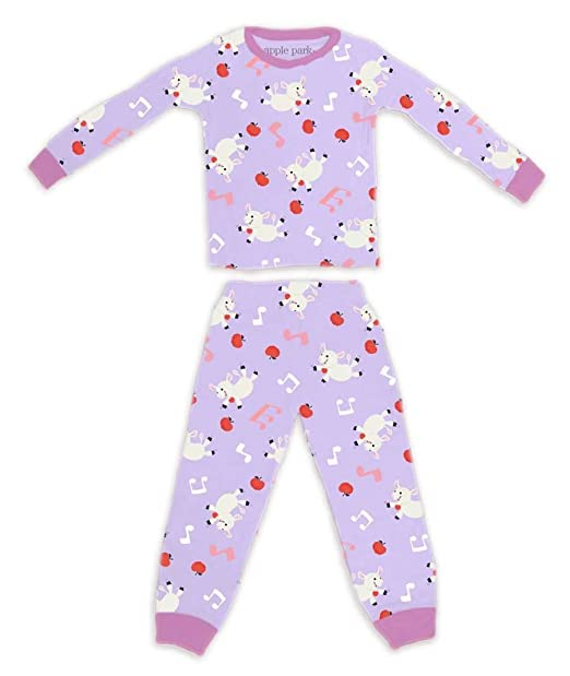 275428d5 Apple Park 100% Organic Cotton Pajamas - 6 - 12 months (Lamby ...