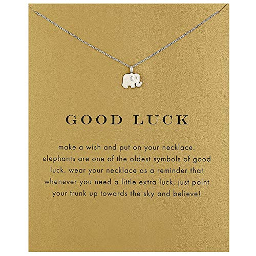 Geometric Necklace Friendship Good Luck Choker Collarbone Chain Triangle Elephant Sun Moon Chandelier Clavicle Necklace Bird Pendants Women Girls Birthday Gift Charms Jewelry Elephant Silver ()