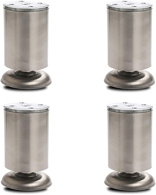 Patas para Muebles,4 Piezas,Metal cilíndrico | Altura: 7/9/11/14 ...