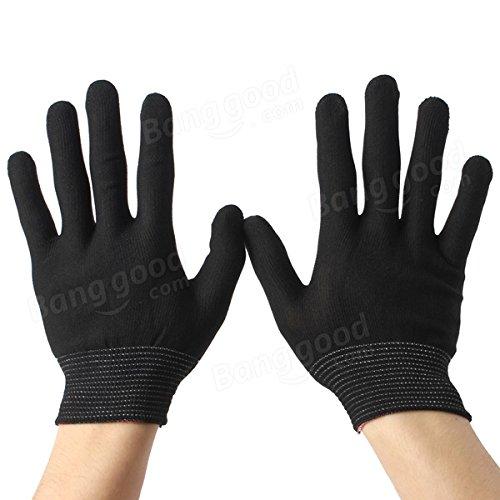 Doradus 2 Pairs Antistatic Nylon Work Glove Grip Durable Knit Working Safety Gloves