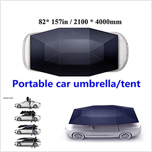 Semi-automatic Outdoor Portable Car Tent Umbrella UV Protection Sun Shade Cover by new