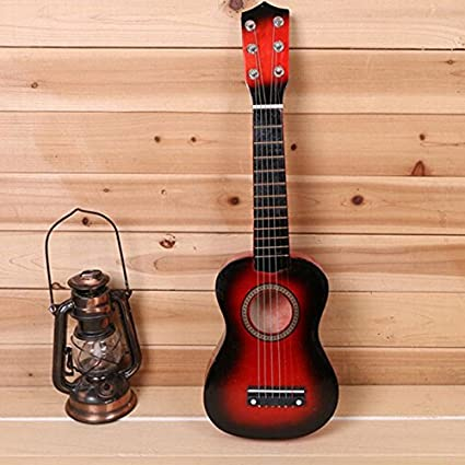 Kid's 6 Strings 21inch Ukulele Wooden Acoustic Guitar Musical Instruments Toys for Beginners HOUTBY