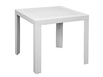 areta are053 Mesa, Modelo Saturno, Blanco, 80 x 80 x 72 cm: Amazon ...