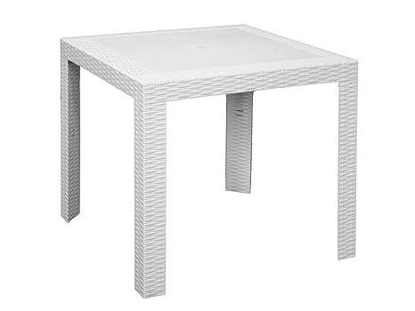 Areta are053 tavolo modello saturno bianco 80 x 80 x 72 cm