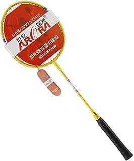 Delicacydex Une Paire/Set Professionnel en Aluminium de Carbone Badminton Raquette légère Anti-dérapant 3D Sport Competition Badminton Raquette