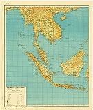 Historic Map | Indonesia 1961 | Indonesia dan sekitarnja | Antique Vintage Reproduction 24in x 30in