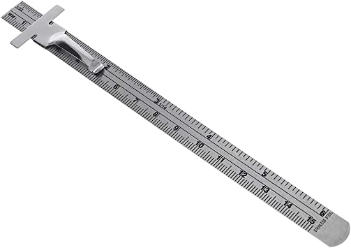 "Chuiouy 6 Inch Sliding Steel Ruler Height Gauge Depth Gauge Metric Inch 1//32/"" Mm//metric Graduations"