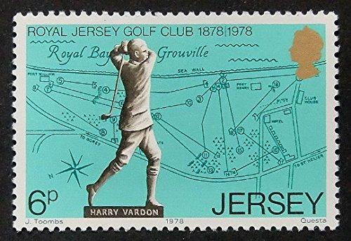 Harry Vardon -Royal Jersey Golf Club 1878-1978 -Handmade Framed Postage Stamp Art 9320 -