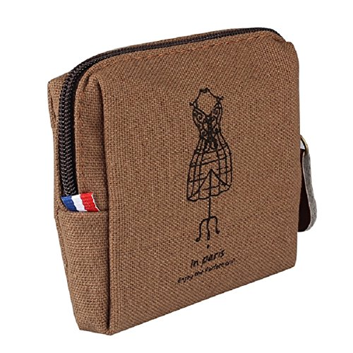 Holders Purse Coffee Khaki Wallet Clutch Tonsee Handbag Card Retro Lady TM vPwBxqtAY
