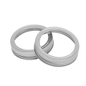 BESTONZON 5 piezas tapas de enlatado de acero inoxidable tapa de ...