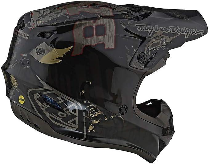 Black, Large 109656204 Troy Lee Designs SE4 Polyacrylite Baja Adult Off-Road Motocross Helmet