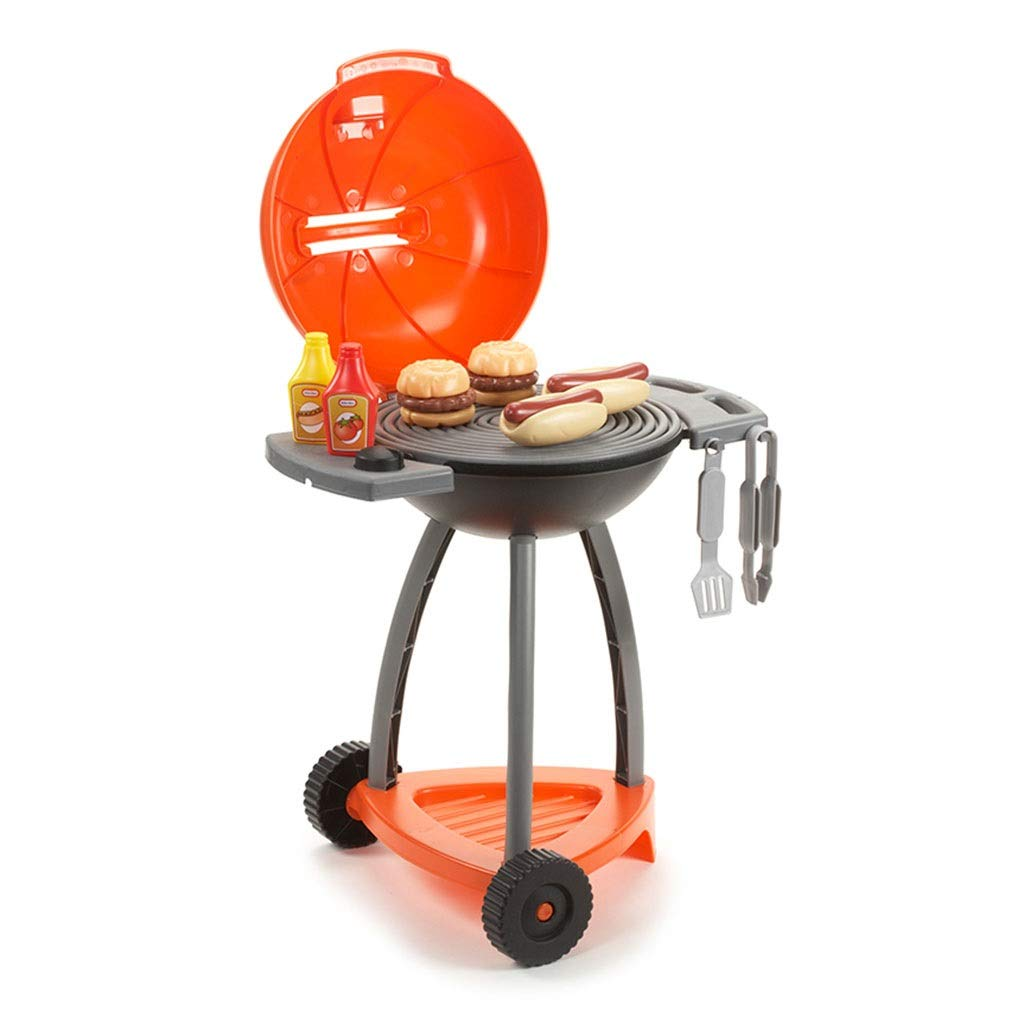 調理器具食器 パズルゲーム子供のプラスチックキッチン玩具キッチンプレイセット屋外グリル模擬グリル3-6歳男の子女の子ギフト (Color : Orange, Size : 38*50*60cm) 38*50*60cm Orange B07SN7LWGS
