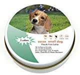 Dog Flea Treatment Collar - 2 Natural Grey Collars| Flea and Tick Prevention for Puppies and Small Dogs | Softer, Lighter, Odorless and Water-Resistant | 16 Inches Cut to Size | 12-Month Protection