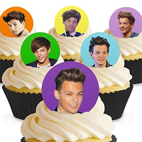 Cakeshop 12 x PRE-CUT Louis Tomlinson Edible Cake Toppers]()